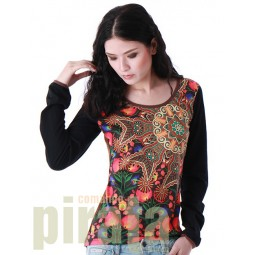 Printed Long Sleeves T-Shirt 070