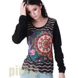 Printed Long Sleeves T-Shirt 071