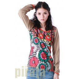Printed Long Sleeves T-Shirt 077