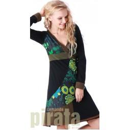 Printed Long Sleeves Dress 134