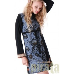 Printed Long Sleeves Dress 141