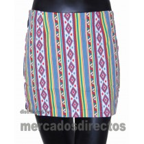 Printed Mini Skirt 058