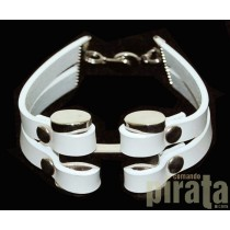 Metal/Leather Bracelet 02-4