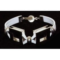 Metal/Leather Bracelet 02-5