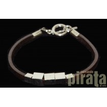 Metal/Leather Bracelet 02-6