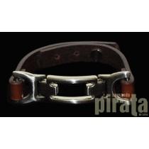 Metal/Leather Bracelet 02-8